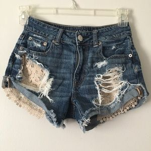 AE Hi Rise Festival Jean Shorts size 00